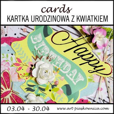 CARDS - kartka urodzinowa z kwiatkiem