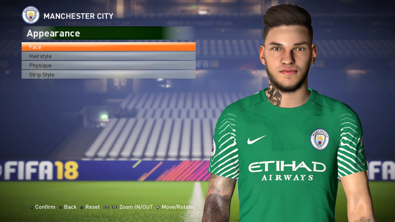 PES 2017 Ederson Face Update+Fix by Ahmed Tattoo & Facemaker
