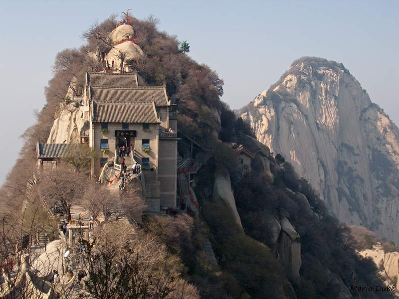 Le pic Nord au mont Hua (Chine)