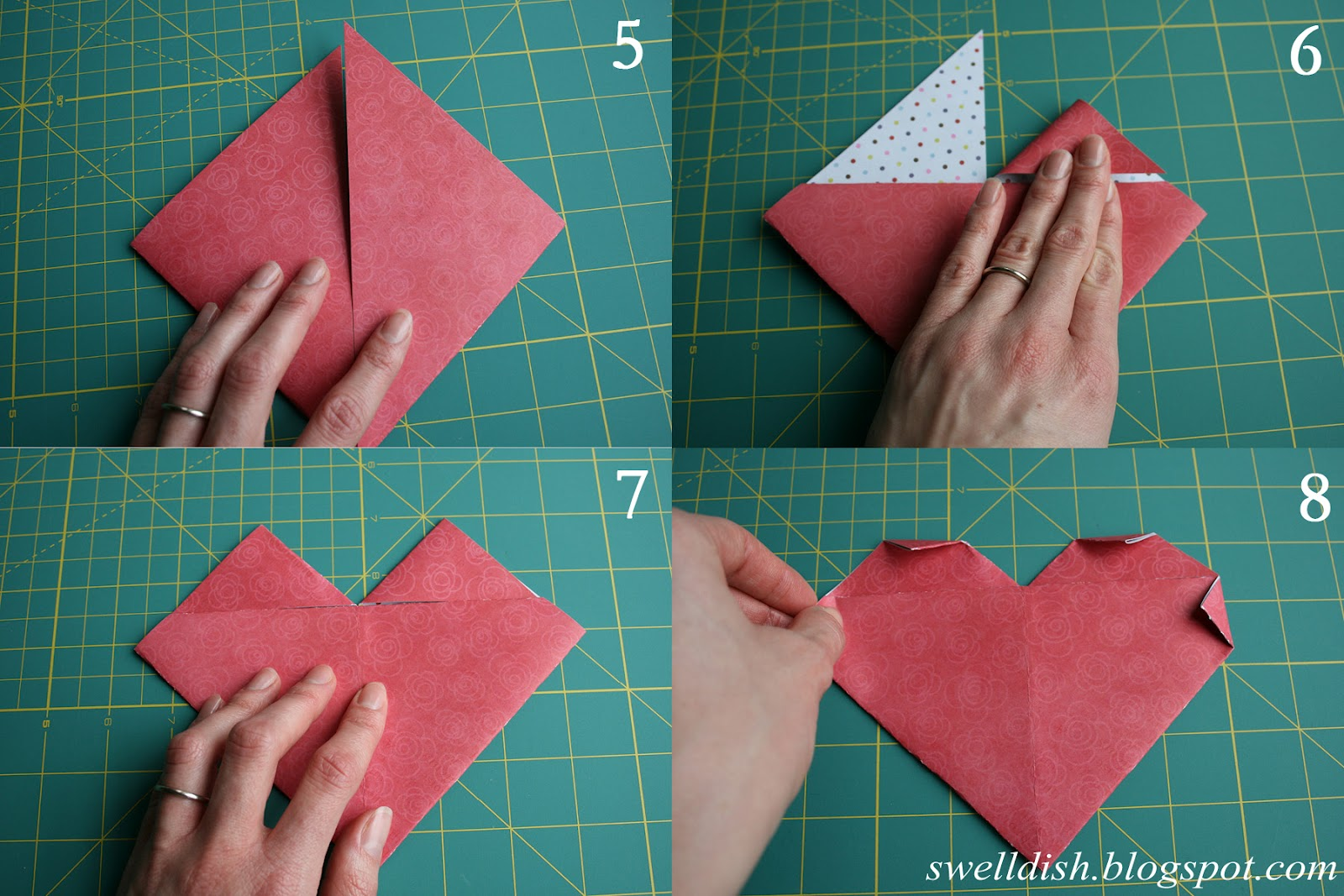 Herz Falten Aus Papier The Swell Dish Valentine Paper Heart Gift Card Note Holders