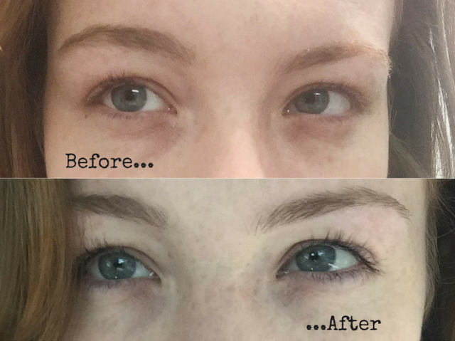 eyelash tinting before and after