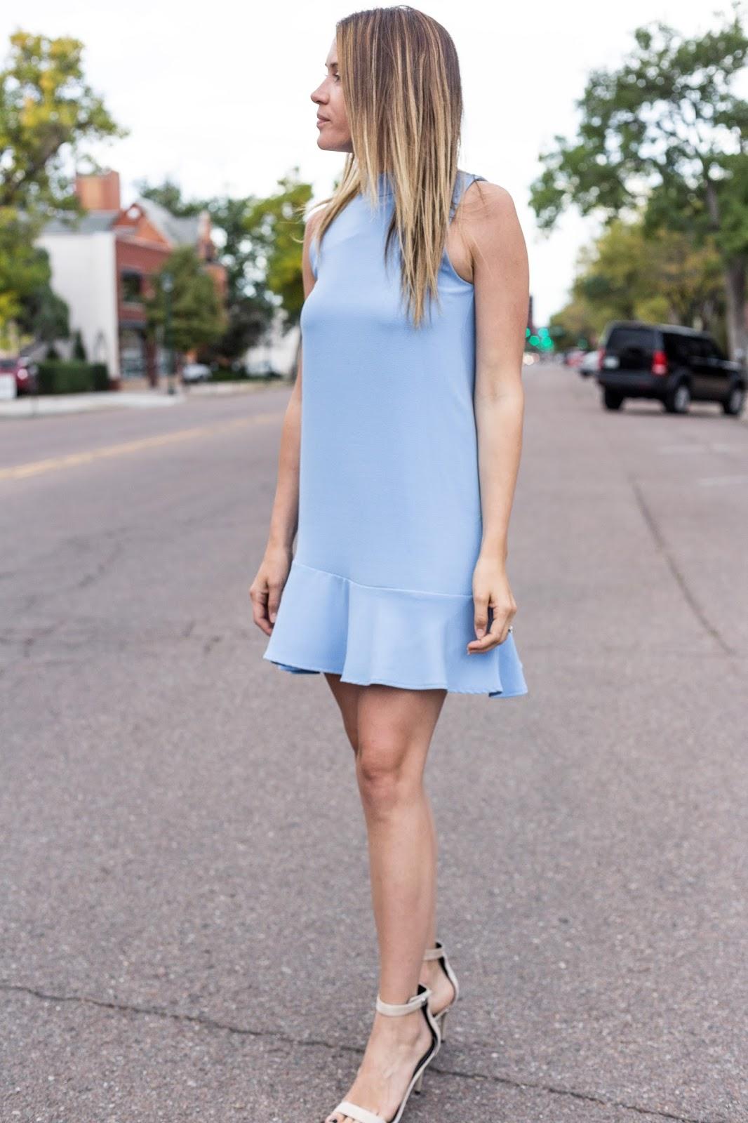 Ruffle Shift Dress by Colorado fashion blogger Eat Pray Wear Love
