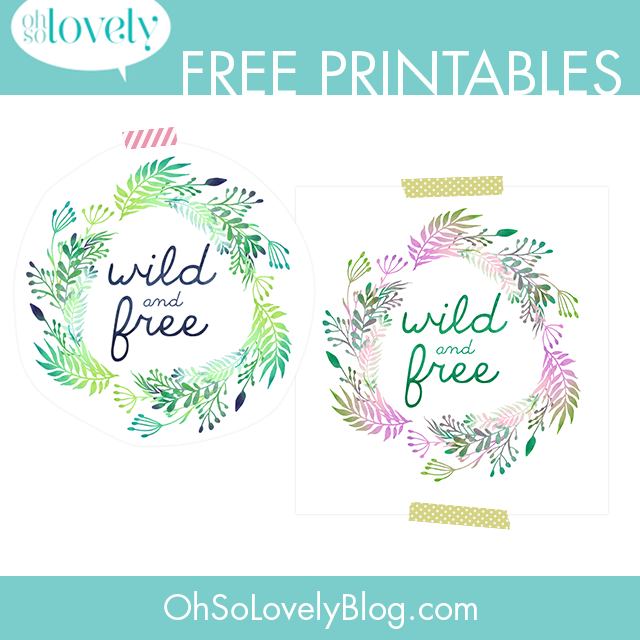 Wild and free printables — decorate your kid's room walls on a budget!