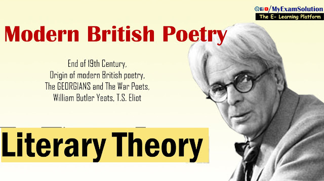 Modern British Poetry, English Literature Theory, Literary theory, My exam solution