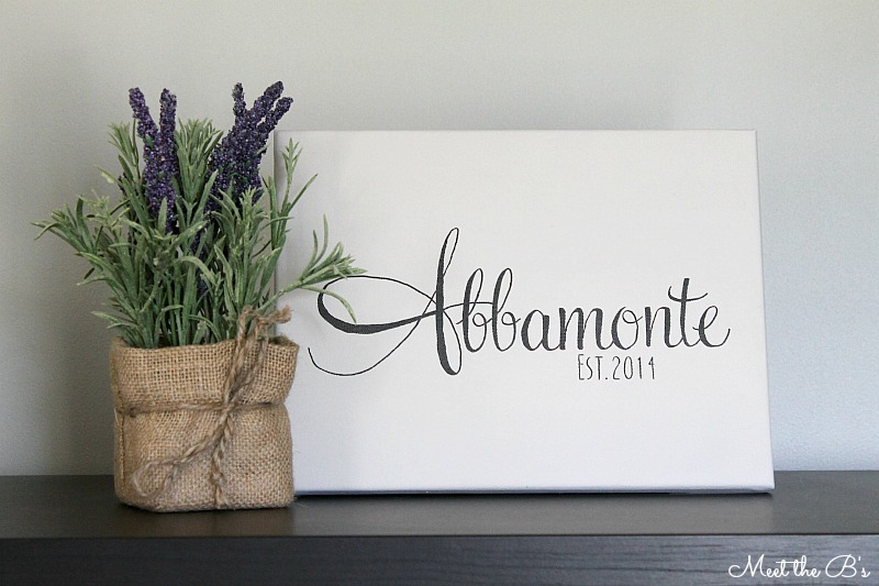 DIY Last Name Sign Gift Idea