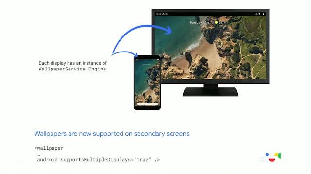 خلفيات وضع سطح مكتب Android Q