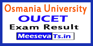 OUCET Results 2017 Rank Card Download Osmania University CET