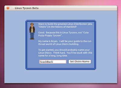 Linux Tycoon Start Screen