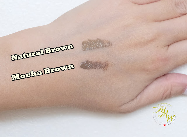a swatch photo of K-Palette 1Day Tattoo Lasting Eyebrow Mascara review