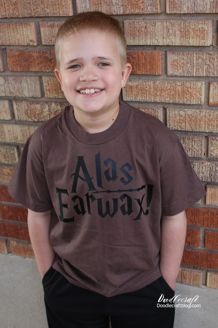 Alas Earwax Quote Funny Harry Potter Shirt!