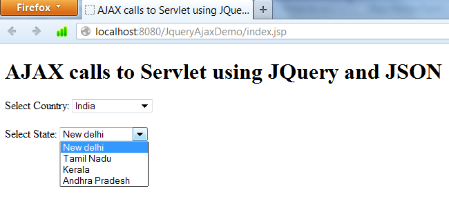 AJAX with Servlets using JQuery and JSON | ProgrammingFree