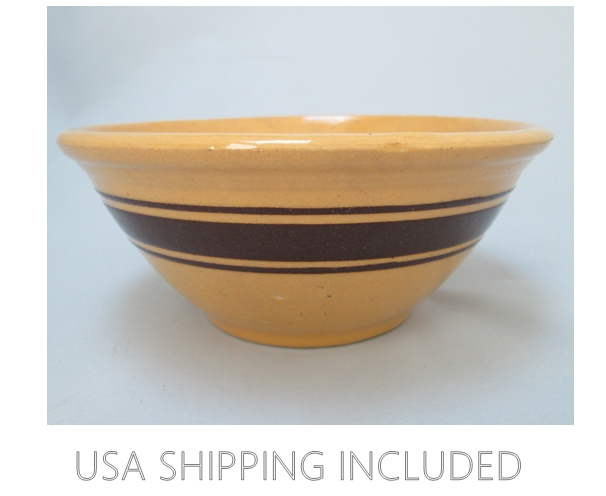 National Uncommon Yellow Ware Bowl