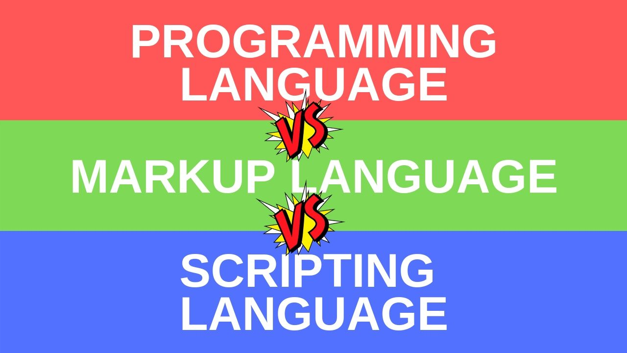 programming vs markup vs scripting languages, difference between coding, types of coding