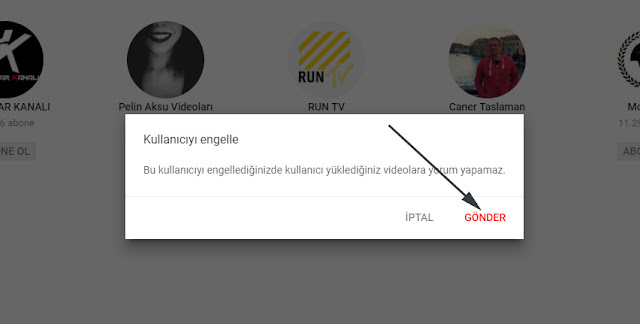 youtube kullanıcı hesabı nasıl engellenir