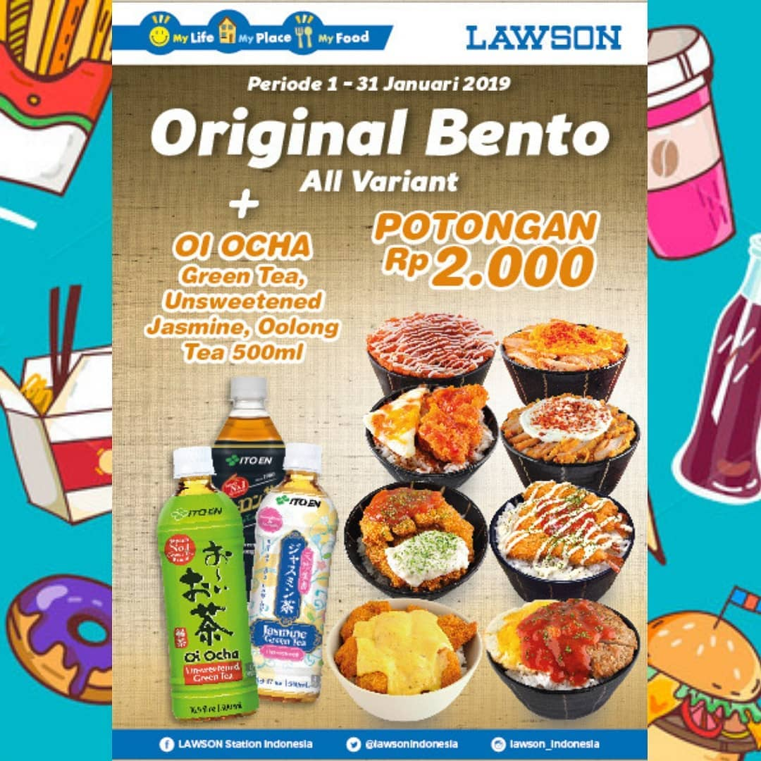 #Lawson - Promo Potongan 2K Untuk Original Bento + OI Ocha (s.d 31 Jan 2019)