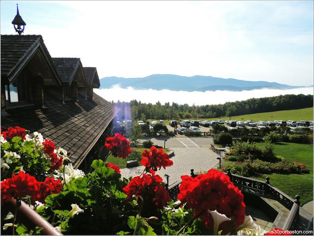 Vistas desde la Terraza de la Habitación del  Trapp Family Lodge en Stowe, Vermont