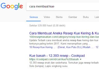 contoh menggunakan search engine
