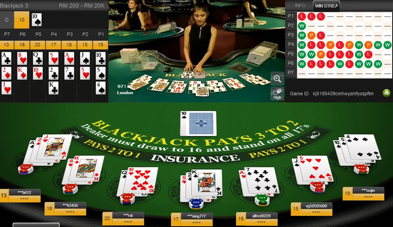 online game in casino