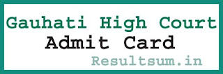 Gauhati High Court Admit Card 2015
