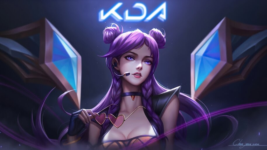 K/DA, Kai'Sa, LoL, Girl, Art, 4K, #5.2656