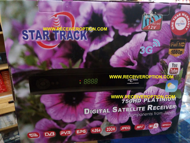 STAR TRACK 750HD PLATINIUM RECEIVER AUTO ROLL NEW SOFTWARE