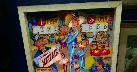 1966 Mayfair Pinball Machine by Gottlieg $999 firm. Booth 80 at Scranberry Coop antique Store
