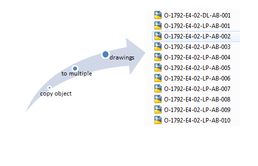 how make copy object to multiple drawings in autocad