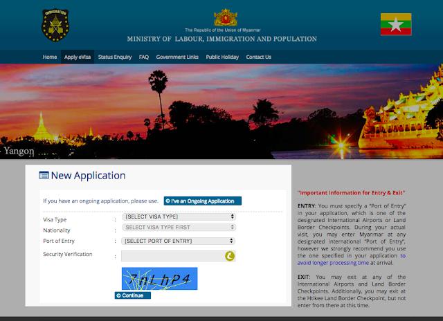 Birmanie: comment faire sa demande de Visa en ligne?