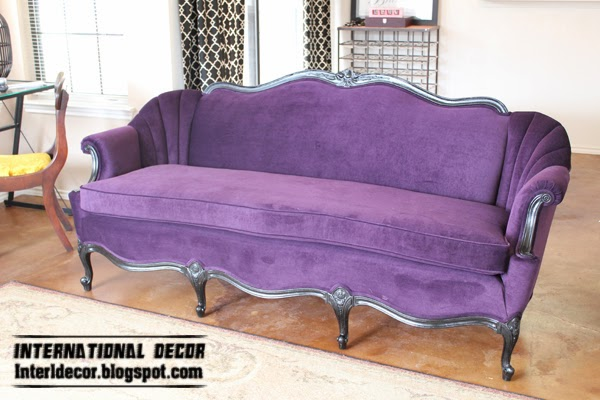 Luxury purple furniture, sets, sofas, chairs for living