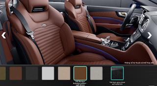 Nội thất Mercedes SL 400 2016 màu Nâu nhạt X35