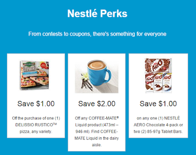 Save on Delissio, Coffee-Mate & Nestle Chocolate