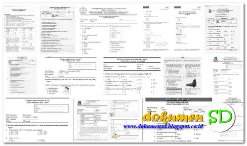 Download Soal dan Kunci Jawaban Latihan Ujian Sekolah Matematika, Bahasa Indonesia dan Ilmu Pengetahuan Alam (IPA) SD/MI Terbaru