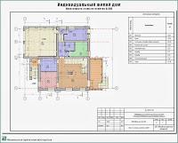 Проект жилого дома в пригороде г. Иваново - д. Афанасово Ивановского р-на. План первого этажа