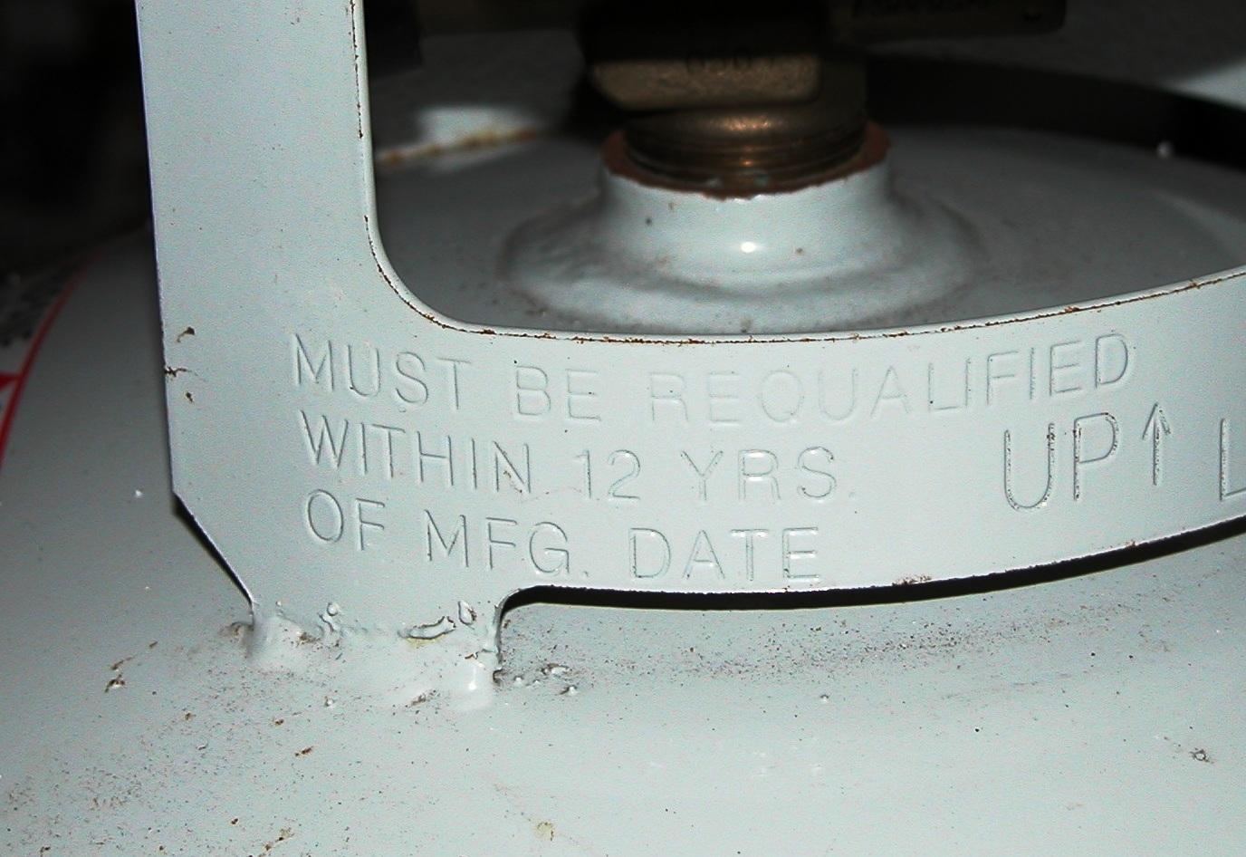 Propane tank date code