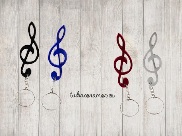 Llavero abrechapas con clave de sol, un detalle uniséx práctico y original para los amantes de la música