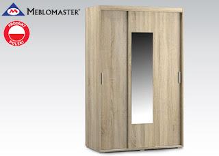 Szafa przesuwna z lustrem Meblomaster z Biedronki