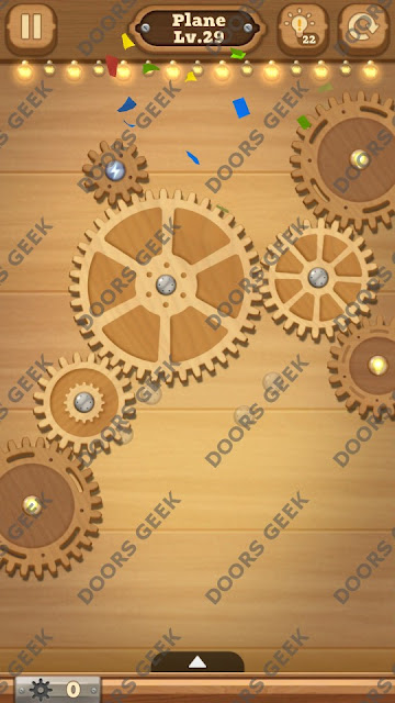 Fix it: Gear Puzzle [Plane] Level 29 Solution, Cheats, Walkthrough for Android, iPhone, iPad and iPod