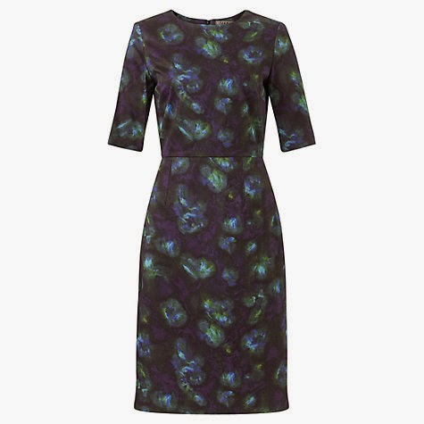 Jigsaw Blue Depths blue floral Print Dress