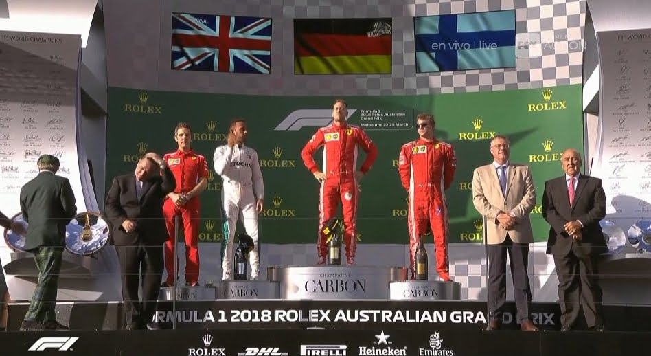 Formula 1: La Ferrari di Vettel trionfa in Australia davanti a Hamilton e Raikkonen