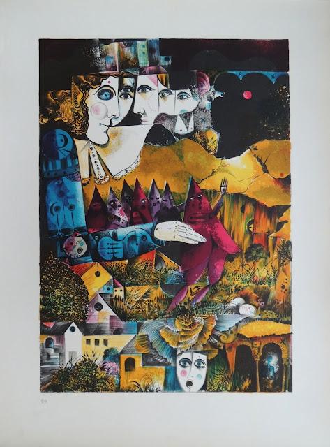 Eduard Alcoy litografía obra barata