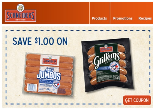 Websaver Schnediers Hot Dog Coupon