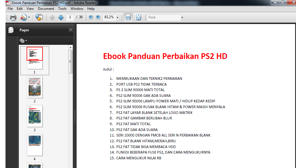 Tips & Trik Di Ps2: Ebook PS2 Lengkap, Panduan servis PS2