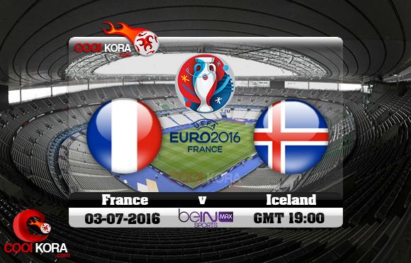 مشاهدة مباراة فرنسا وأيسلندا اليوم 3-7-2016 بي أن ماكس يورو 2016
