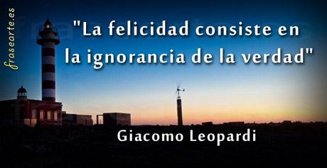 Frases de felicidad - Giacomo Leopardi