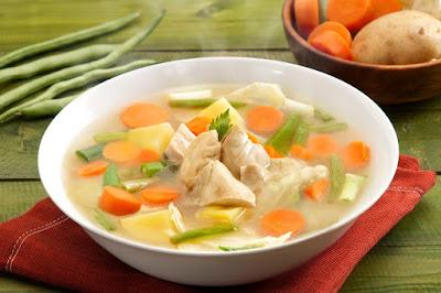 sup ayam untuk redakan panas bayi