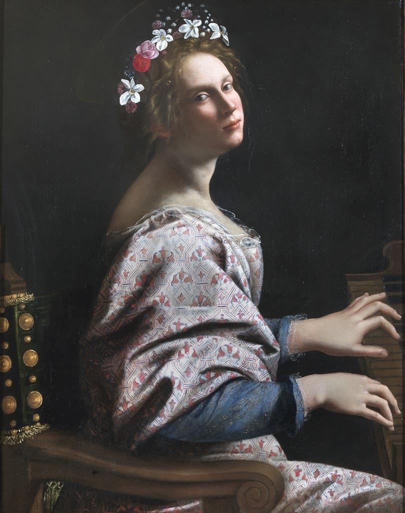 Artemisia Gentileschi Autoritratto come Santa  Cecilia