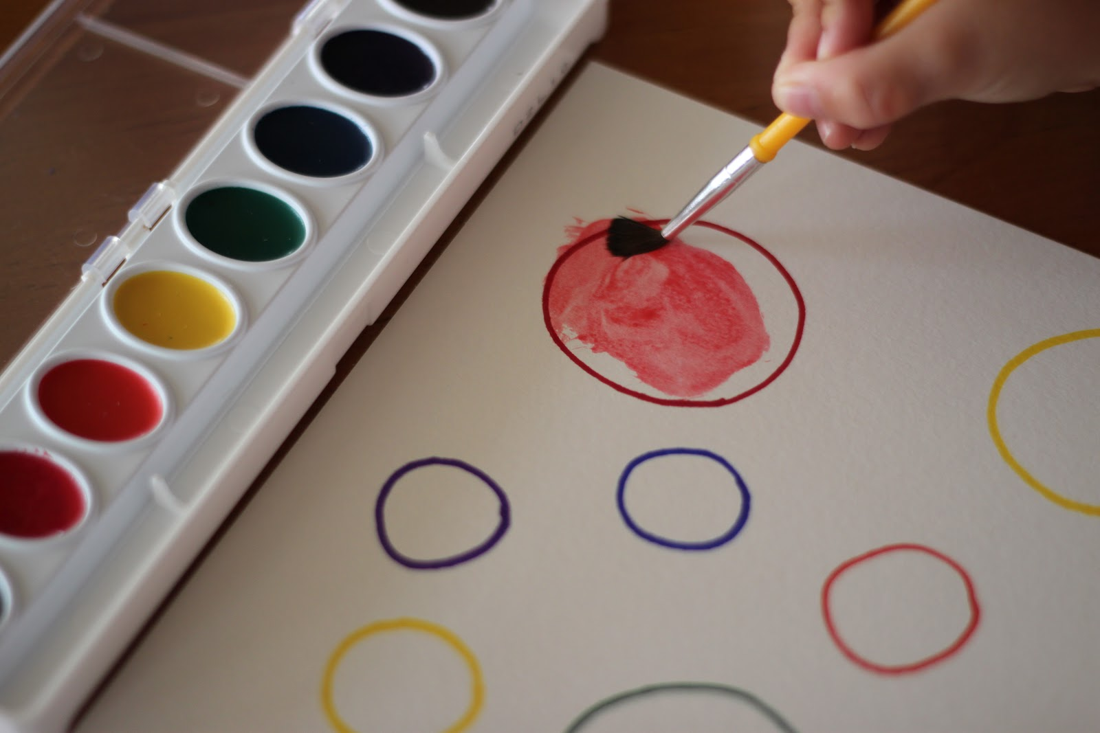 Playing House Color Matching Watercolor Activity