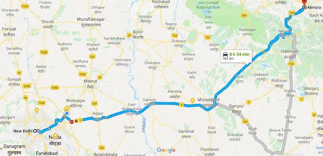 Delhi to pindari glacier