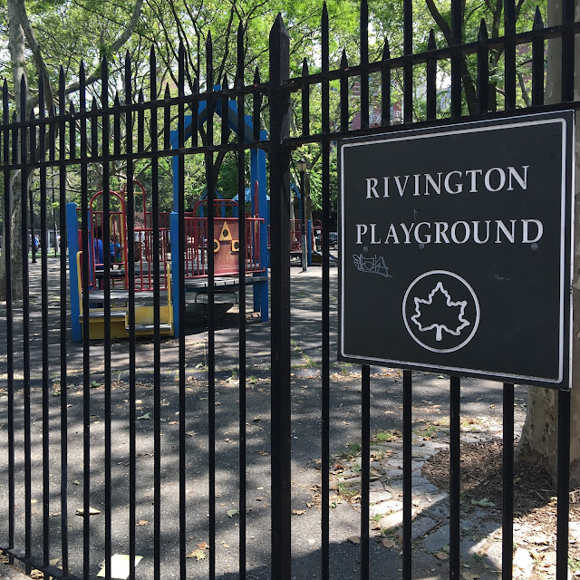 Rivington Playground on Rivington Street in NYC's Lower East Side