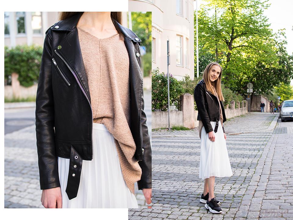 Minimal and neutral fashion blogger summer outfit - Minimalistinen ja neutraali kesäasu, muotibloggaaja, Helsinki